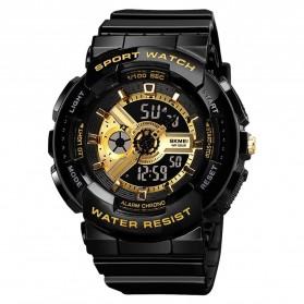 SKMEI Jam Tangan Analog Digital Sporty Pria - 1689 - Black Gold