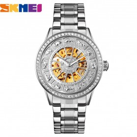 SKMEI Jam Tangan Mechanical Pria Automatic Movement - 9228 - Silver