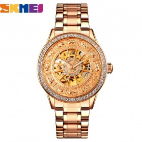 SKMEI Jam Tangan Mechanical Pria Automatic Movement - 9228 - Rose Gold