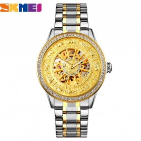 SKMEI Jam Tangan Mechanical Pria Automatic Movement - 9228 - Silver/Gold