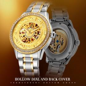 SKMEI Jam Tangan Mechanical Pria Automatic Movement - 9228 - Silver/Gold - 2