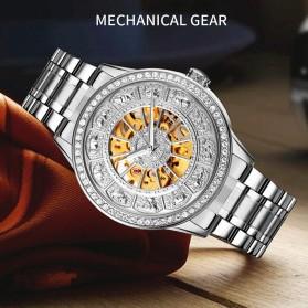 SKMEI Jam Tangan Mechanical Pria Automatic Movement - 9228 - Silver/Gold - 3