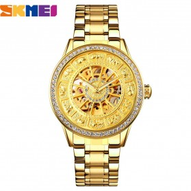 SKMEI Jam Tangan Mechanical Pria Automatic Movement - 9228 - Golden - 1