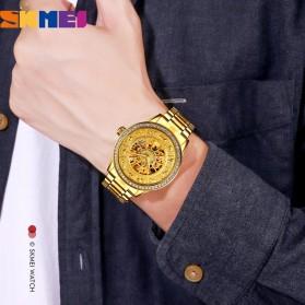 SKMEI Jam Tangan Mechanical Pria Automatic Movement - 9228 - Golden - 4