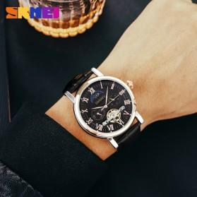 SKMEI Jam Tangan Mechanical Pria Automatic Movement - M026 - Black/Coffee - 10
