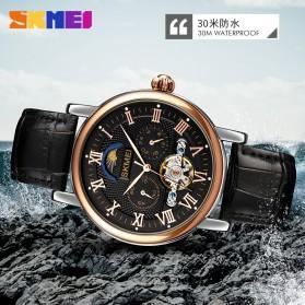 SKMEI Jam Tangan Mechanical Pria Automatic Movement - M026 - Black/Coffee - 8