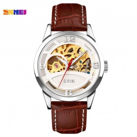 SKMEI Jam Tangan Mechanical Pria Automatic Movement - 9226 - White/Silver