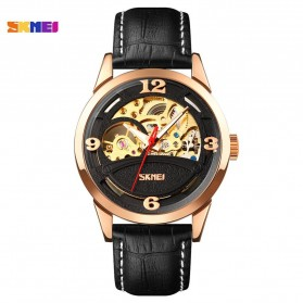 SKMEI Jam Tangan Mechanical Pria Automatic Movement - 9226 - Rose Gold/Black