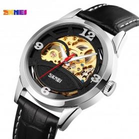 SKMEI Jam Tangan Mechanical Pria Automatic Movement - 9226 - Rose Gold/Black - 2