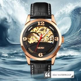 SKMEI Jam Tangan Mechanical Pria Automatic Movement - 9226 - Rose Gold/Black - 5