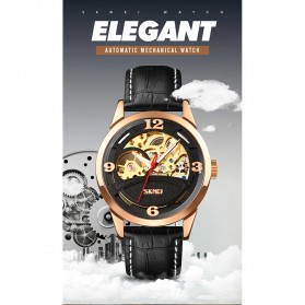 SKMEI Jam Tangan Mechanical Pria Automatic Movement - 9226 - Golden - 7