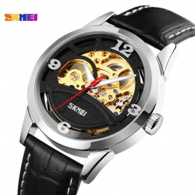 SKMEI Jam Tangan Mechanical Pria Automatic Movement - 9226 - Silver Black - 2