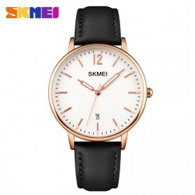 SKMEI Jam Tangan Analog Dress Wanita - 1724 - Rose Gold/Black