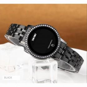 SKMEI Jam Tangan Digital Wanita Stainless Steel Strap - 1669 - Black - 10