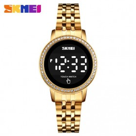 SKMEI Jam Tangan Digital Wanita Stainless Steel Strap - 1669 - Golden