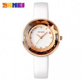 SKMEI Jam Tangan Analog Wanita Strap Leather- 1707 - White