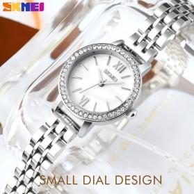 SKMEI Jam Tangan Analog Wanita Strap Leather- 1711 - White/Pink - 6