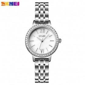 SKMEI Jam Tangan Analog Wanita Strap Stainless Steel - 1711 - White/Silver