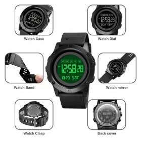SKMEI Jam Tangan Digital Adventure Pria - 1727 - Black/Black - 5