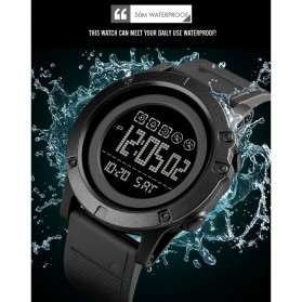 SKMEI Jam Tangan Digital Adventure Pria - 1727 - Black/Black - 7