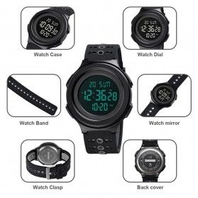 SKMEI Jam Tangan Digital Adventure Pria - 1733 - Black/Black - 4