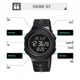 SKMEI Jam Tangan Digital Adventure Pria - 1733 - Black/Black - 5