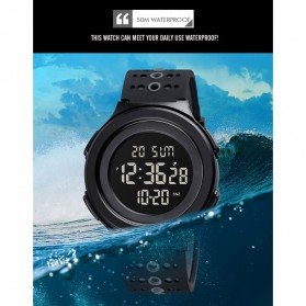 SKMEI Jam Tangan Digital Adventure Pria - 1733 - Black/Black - 9