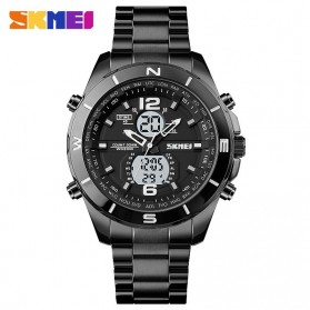 SKMEI Jam Tangan Analog Digital Pria - 1670 - Black White