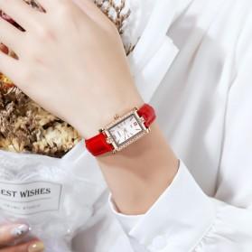 SKMEI Jam Tangan Analog Wanita Leather Strap - 1690 - Red