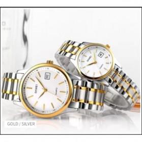 SKMEI Jam Tangan Analog Stainless Steel Pria Couple - 1692 - Silver/Gold - 7