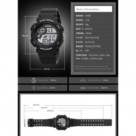 SKMEI Jam Tangan Digital Pria - 1718 - Black - 8