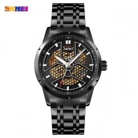 SKMEI Jam Tangan Mechanical Analog Pria Stainless Steel Strap - 9225 - Black