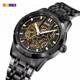 SKMEI Jam Tangan Mechanical Analog Pria Stainless Steel Strap - 9225 - Black - 2