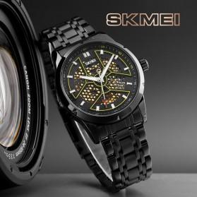 SKMEI Jam Tangan Mechanical Analog Pria Stainless Steel Strap - 9225 - Black - 4