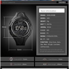 SKMEI Jam Tangan Digital Pria - 1656 - Black - 9