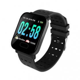 SKMEI Jam Tangan Olahraga Heartrate Smartwatch Bluetooth - A6 - Black