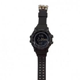 SKMEI Jam Tangan Digital Sporty Pria - 1687 - Black/Black - 2