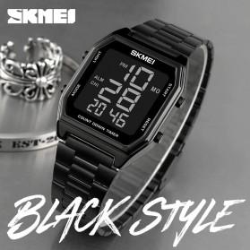 SKMEI Jam Tangan Digital Pria Strap Stainless Steel - 1735 - Black - 3
