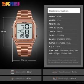 SKMEI Jam Tangan Digital Pria Strap Stainless Steel - 1735 - Black - 7