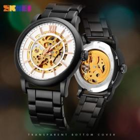 SKMEI Jam Tangan Mechanical Pria Automatic Movement - 9242 - Black - 2