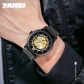 SKMEI Jam Tangan Mechanical Pria Automatic Movement - 9242 - Black - 4