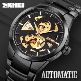 SKMEI Jam Tangan Mechanical Pria Automatic Movement - 9243 - Black - 4
