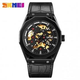 SKMEI Jam Tangan Mechanical Pria Automatic Movement - 9248 - Black/Black