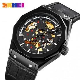 SKMEI Jam Tangan Mechanical Pria Automatic Movement - 9248 - Black/Black - 3