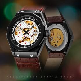 SKMEI Jam Tangan Mechanical Pria Automatic Movement - 9248 - Black/Black - 5