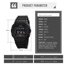 SKMEI Jam Tangan Smartwatch Pria Bluetooth Pedometer - 1743 - Black - 10