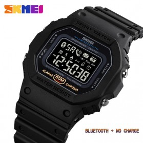 SKMEI Jam Tangan Smartwatch Pria Bluetooth Pedometer - 1743 - Black - 2