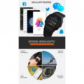 SKMEI Jam Tangan Smartwatch Pria Bluetooth Pedometer - 1743 - Black - 8