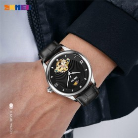 SKMEI Jam Tangan Mechanical Pria Automatic Movement - 9251 - Brown/Silver - 3