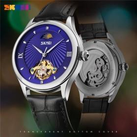 SKMEI Jam Tangan Mechanical Pria Automatic Movement - 9251 - Brown/Silver - 4